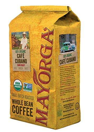 Cafe Cubano Dark Roast, 2 Pound, Whole Bean Coffee, Direct Trade, 100% USDA Organic Certified, Non-GMO, Kosher
