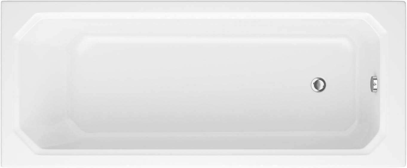 Hudson Reed Baignoire Rectangulaire R/étro 170 x 75cm Fond Octogonal 185L