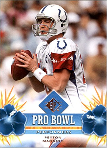 (2008 SP Authentic Retail Pro Bowl Performers #PBP33 Peyton Manning - Football Card)