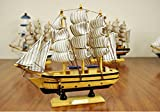 4 Sizes Wooden Sailing Boat Wood Clipper Ship Model Collectible Sailboat Crafts TA11189 ( Size : 30cm )
