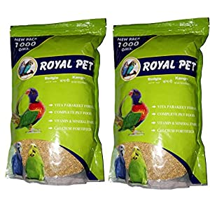 JAINSONS PET PRODUCTS Royal Budgie Foxtail Millet 1000 g Kangni 2 kg Dry Bird Food – Pack of 2