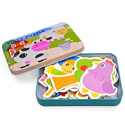 (Vileafy Flash Cards Puzzles for Kids Matching Puzzles (Flashcards-Farm)