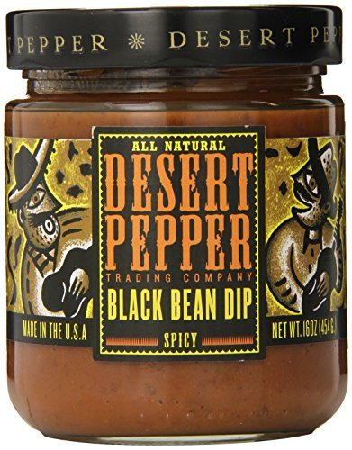 (Desert Pepper Trading Company Black Bean Dip, Spicy, 16 Ounce)