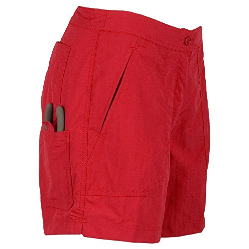 Guy Harvey Ladies Fishing Shorts - Red - Ladies Size 16 by Guy Harvey