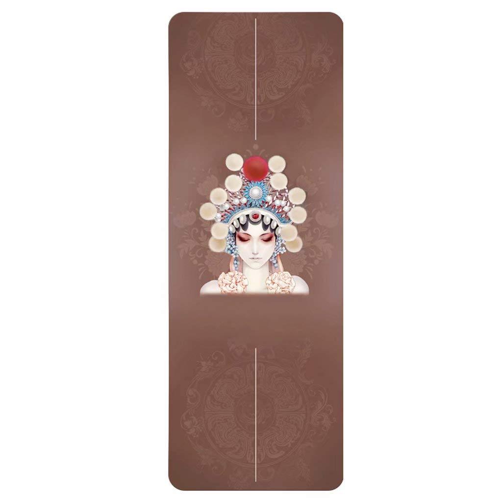 Coperta di Gomma del tovagliolo di tovagliolo dello Yoga di piegamento di Yoga della stuoia di Yoga della stuoia Naturale di Yoga Naturale di 1.5mm 185  68cm