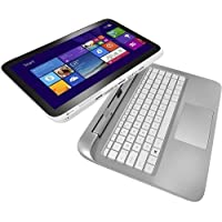 13.3 HP 13-r010dx x2 Detachable Laptop Tablet Intel Core i3-4021Y 4GB RAM 500GB + 8GB Hybrid HDD BeatsAudio Bluetooth Windows 8.1 Snow White/Ash Silver (Certified Refurbished)