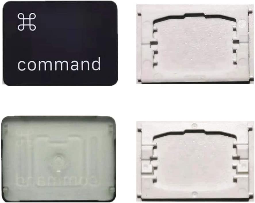 Replacement Individual Right Command Key Cap and Hinges are Applicable for MacBook Pro 13&16inch Model A1989 A1990 and for MacBook Air A1932 Keyboard to Replace The Right Command Keycap and Hinge