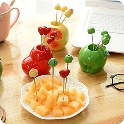Amazon.com: LIVDAT LIVDAT Cute Fruit Vegetable Shape Picks Cake ...