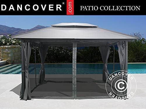 Dancover Cenador de jardín Juno, 3x4m, Gris: Amazon.es: Jardín