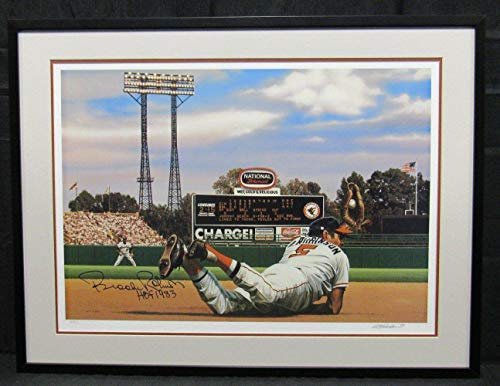 - Brooks Robinson Signed Auto Autograph Framed 22x30 Lithograph Photo CC59298 - JSA Certified - Autographed MLB Art