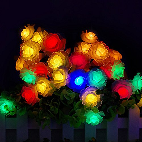 Christmas Decoration Light,Faber3 Christmas Tree Rose Lights Christmas Decoration Lights Window Curtain Pineapple String Light for Wedding Party Home Garden Bedroom Wall Decorations (Garlands Halloween 2017)