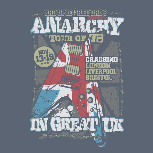 ANARCHY, UK Rock'n'Roll T-Shirt Herren printed, jeans-blue, M