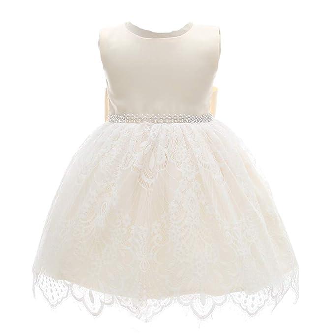 Bebé Niñas Vestido de Flores Vestido Bautismo de niña