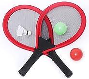AHNUNVA Badminton Racket Set, Kids Badminton Rackets Set of 2, Badminton Racket Toy Set, Child Interaction Fit
