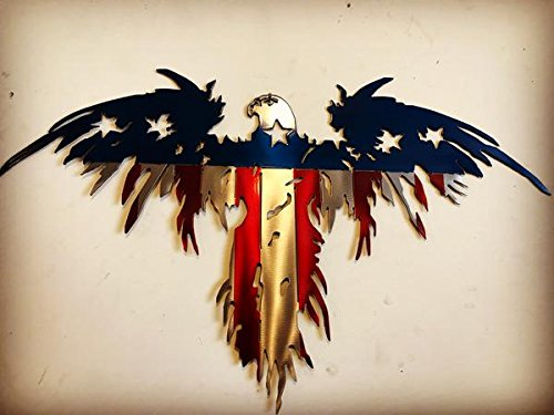 Metal Art of Wisconsin 3 Dimensional Flying Freedom Eagle (4 ()