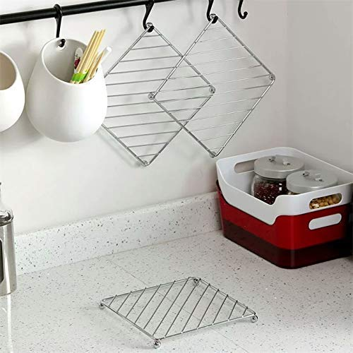 AMAXONE Stainless Steel Pot Stand Trivet KitchenTool Accessories Dining Table/Hot Pot Stand/hot mat for Kitchen,Hot Utensil Stand.