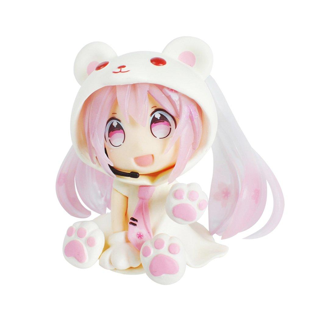 1 Box Hatsune Miku Action Figures, Cute Ornaments, Mini Cute Action Figure - Pink