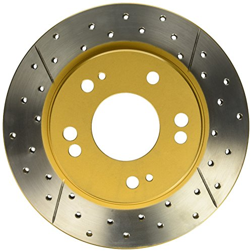 - DBA DBA421X Street Series Gold Disc Brake Rotor (Cross-Drilled and Slotted) (Front, Vented)