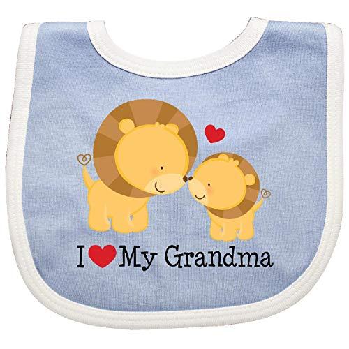 - Inktastic - I Love My Grandma gift Baby Bib Blue/White efbd