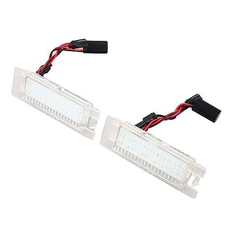 Duoying Luz de matrícula LED Luz de matrícula Super Brillante 2 UNIDS 18LED Accesorios de diseño