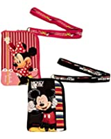 Disney Mickey Mouse and Minnie Mouse Lanyard 2 Pack