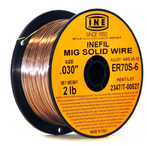 INEFIL ER70S-6 .030-Inch on 2-Pound Spool Carbon Steel Mig Solid Welding (Carbon Steel Welding Wire)