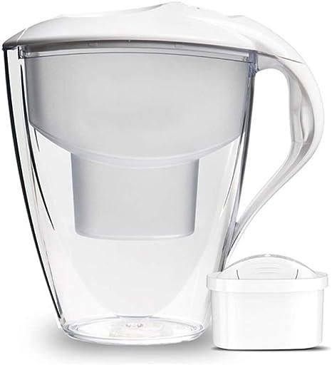 SYJYA Jarra De Filtro De Agua Ideal con 1 Cartucho De Repuesto - 3 litros- Purificador De Agua - Sin BPA ...