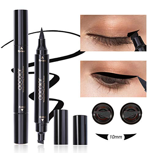 Dooclor Eyeliner Stamp Double-sided Liquid Winged Eye Liner Pen Waterproof Smudgeproof Long Lasting Wing Original Eyeliner Pen