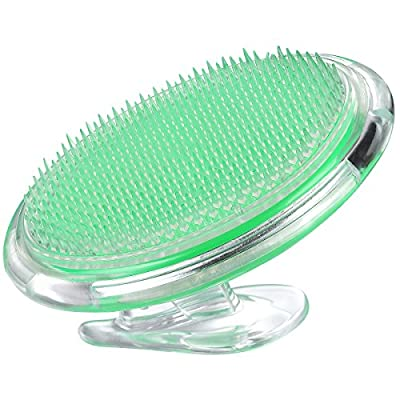 Coolife Ingrown Hair and Razor Bumps Treatment, Mini Exfoliator Brush Acupressure Therapy Myofascial Release Tool Body Massager Brush for Men and Women - Green