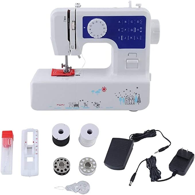 Mini Sewing Machine Handheld Portable Electric 2-Speed with Foot Pedal,Surface Line Embroidery Machine for Home Sewing Set