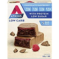 Atkins Low Carb Protein-Rich Chocolate Raspberry Bar, 30g, Pack of 5