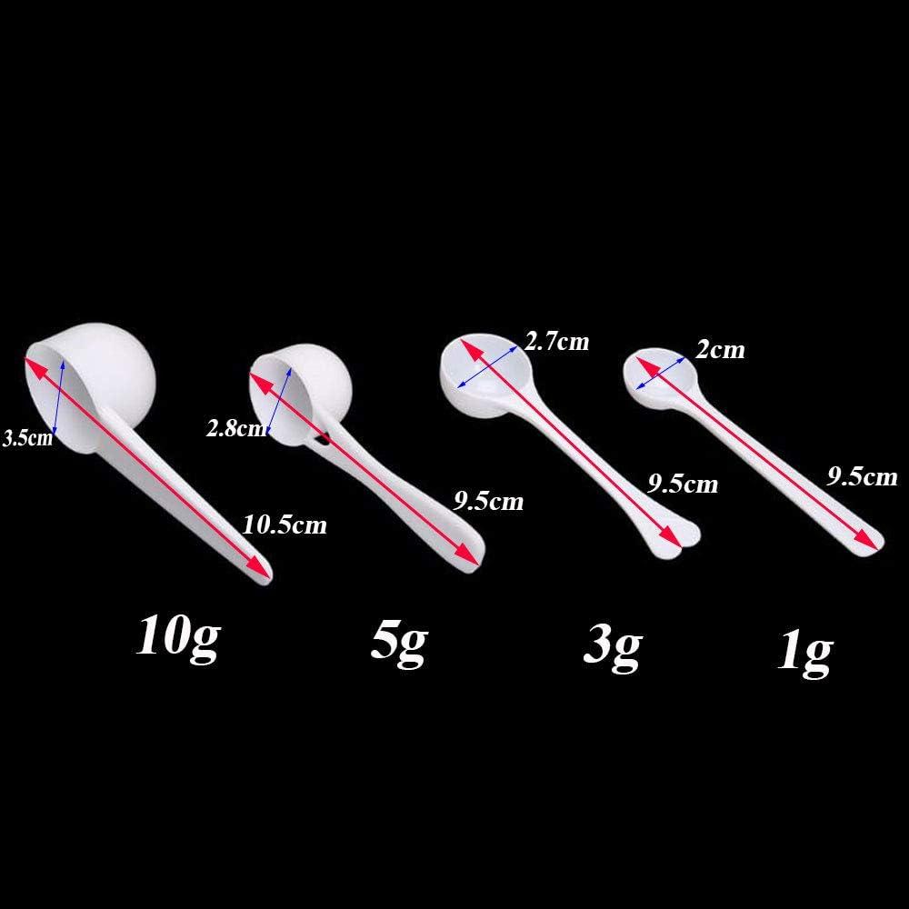 10PCS 1//3//5//10g Measuring Spoons Coffee Protein Milk Powder Scoop Kitchen Plastic 1g-10pcs
