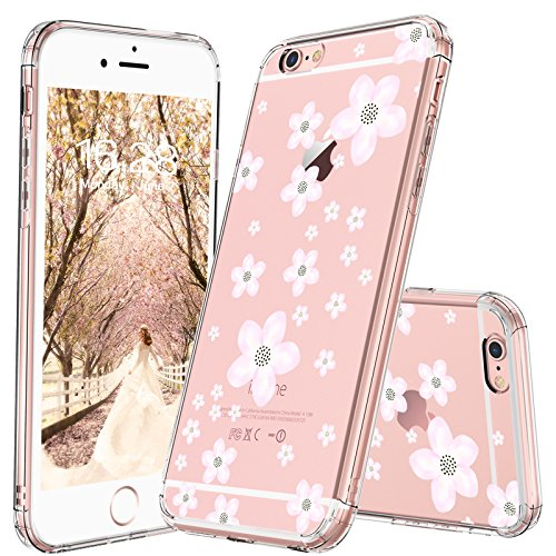 iPhone 6 Case, iPhone 6s Clear Case, MOSNOVO Pink Cherry Blossom Floral Printed Flower Clear Design Transparent Plastic Hard Back with TPU Bumper Protective Case Cover for Apple iPhone 6 6s (4.7 Inch) Cherry Phone Cover