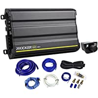 Kicker 12CX12001 CX1200.1 CX 1200 Watt RMS Mono Car Amplifier/Amp+Remote+Amp Kit
