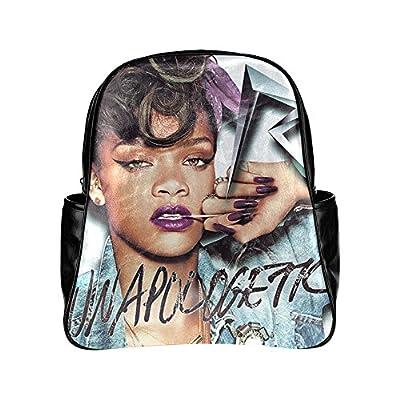 DOROT Famous Female Singer Rihanna Logo Unisex Multi Pocket Shoulders Backpack