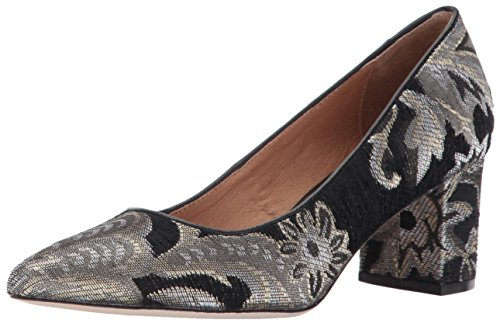 Opportunity Shoes - Corso Como Women's Regina Pump, Black/Metallic Brocade, 7.5 Medium US