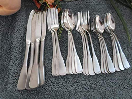 Oneida Vintage SSS USA 18/8 Stainless COLONIAL BOSTON aka MINUTE MAN 24pcs 4 Place Settings Exc Used