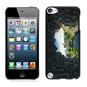 Personalized Minecraft Game Black Case Cover for iPod Touch 5th Generation 076