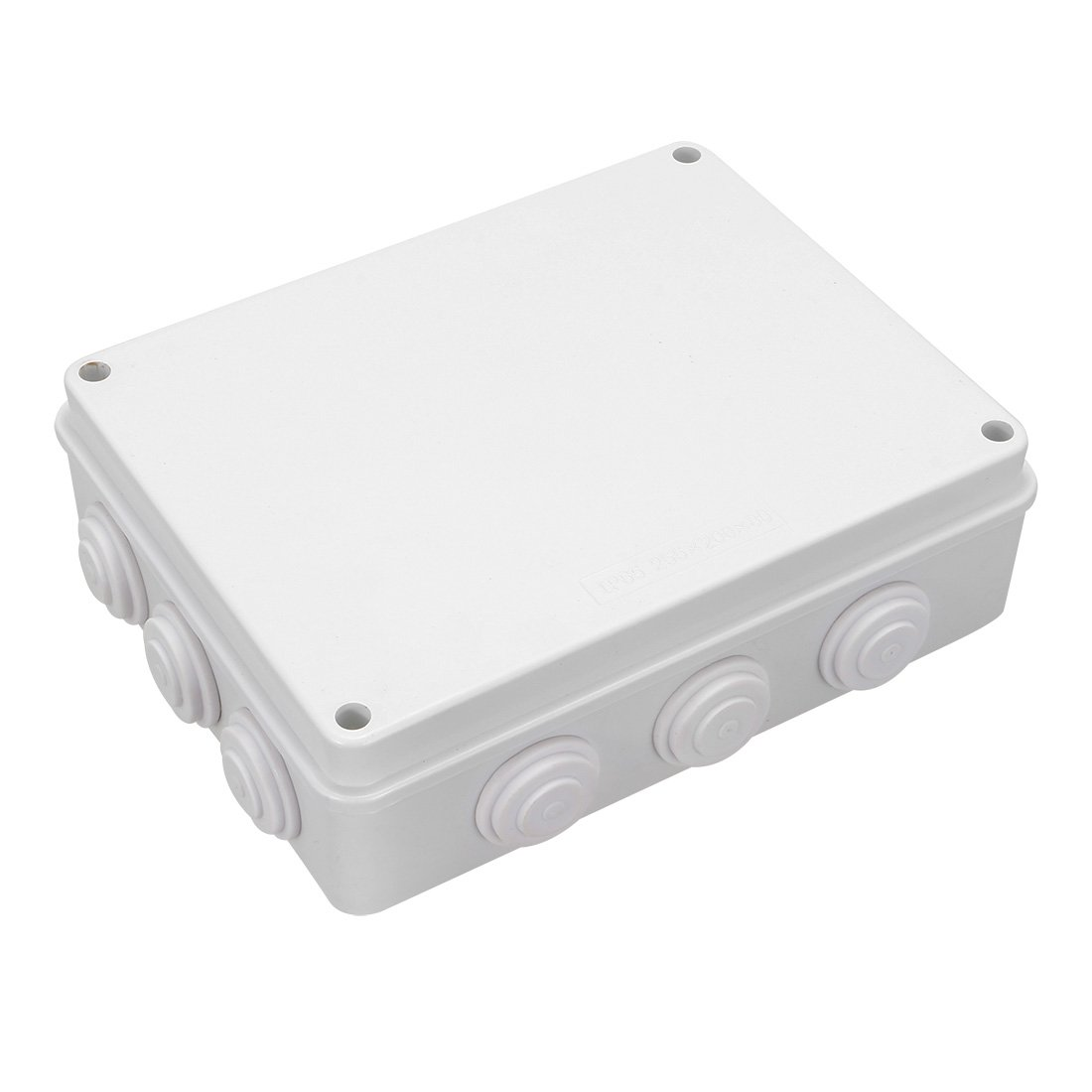 uxcell 10.04 x 7.87 x 2.99 255mmx200mmx76mm ABS Junction Box Universal Project Enclosure White