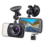 Eonon Dash Cam for Cars, R0010 4 Inch HD IPS Screen Dual-Lens 1080p Dash Cam, Car Recorder, Dashboard Camera with G-Sensor, Parking Monitoring, HDR Night Vision, Motion