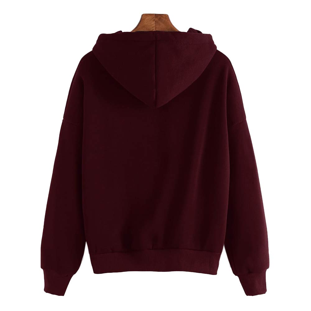 UZZE Womens Sweatshirts and Hoodies Fall Cute Teen Girls Long Sleeve Graphic Couple Hoodies