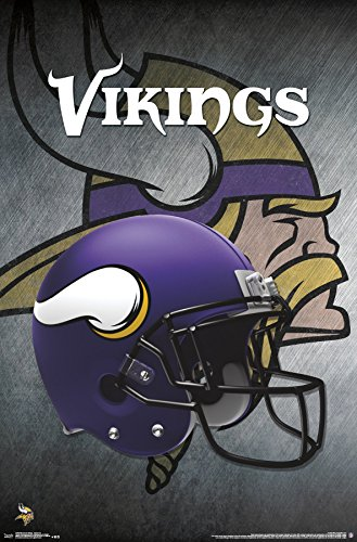 - Trends International Minnesota Vikings-Helmet Premium Wall Poster, 22.375