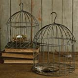 HomArt Set of 2 Natural Galvanized Bird Cages