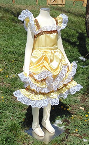 Girls 6-8 Belle Princess dress up apron by Fru Fru and Feathers Costumes & Gifts