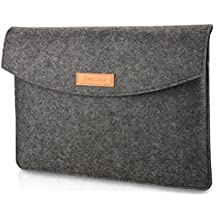 ProCase 15 - 15.4 Inch Felt Laptop Sleeve Bag, 15 Inch Macbook Pro Retina Other Chromebook Ultrabook Notebook Felt Laptop Bag Sleeve Case -Black