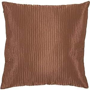"Surya PC-1004 Machine Made 100% Poly Satin Rust 20"" x 20"" Decorative Pillow"