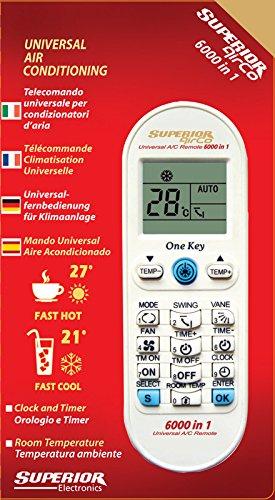 Telecomando universale per climatizzatori Superior AirCo 6000 6000 codici