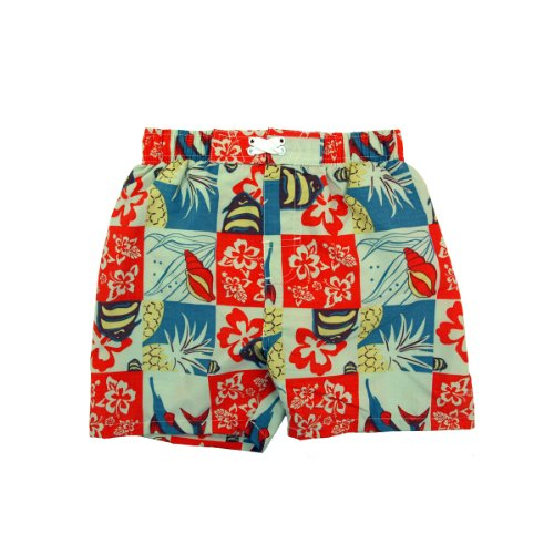 Infant Toddler Boys' Swimwear Hawaiian Print Swim Trunks
