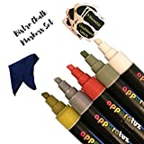 Bistro Chalk Markers Set includes 5 Reversible Washable Chisel Tip Liquid Chalk Markeres, 8 Chalkboard Labels & 1 Eraser Cloth. Best for Cafe Board, Holiday and Christmas Coloring, Wine & Table Decor