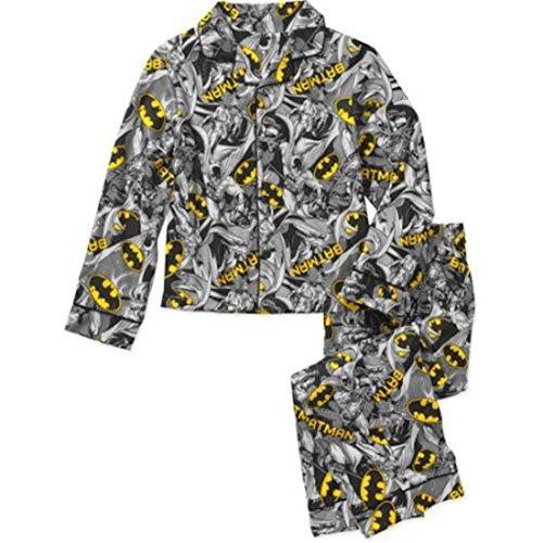 Dc Comics Batman Flannel Coat Pajama Set  Xs  4 5